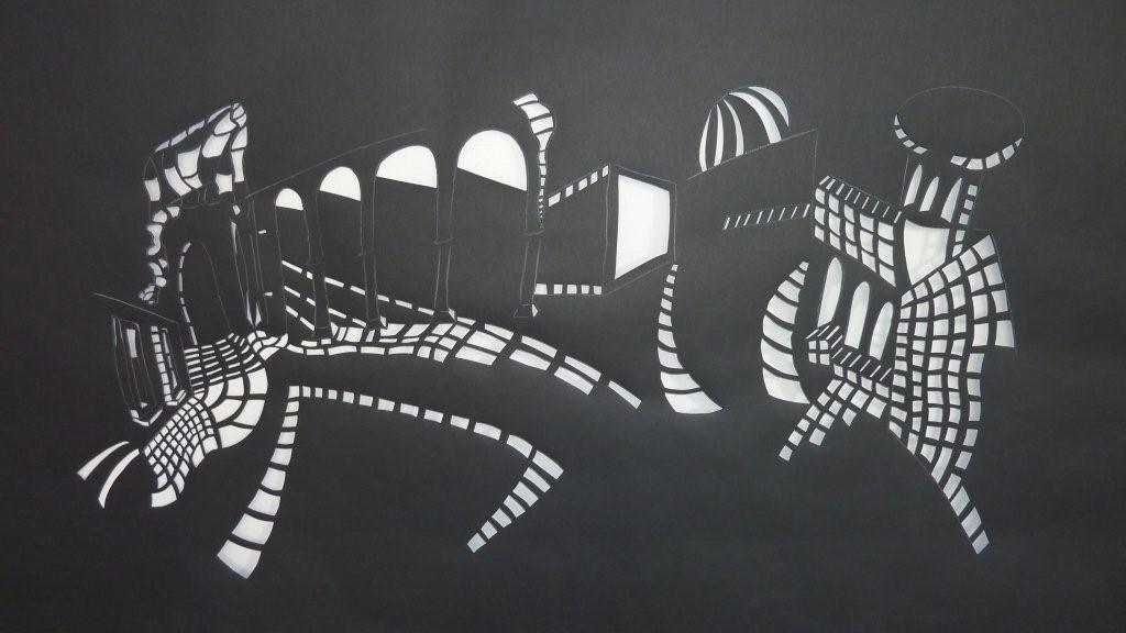 cutouts von strassen plätzen